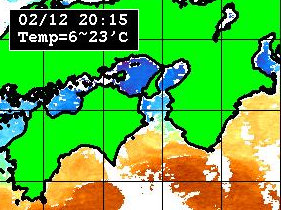 2月12日の水温分布